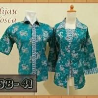 New Item Batik Sarimbit Atasan Warna Hijau Tosca 500436666