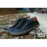 sepatu casual sneaker pria kulit black master geox original (392896870) 144540321d