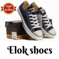 Sepatu All Star Termurah Sepatu Wanita   Sepatu Kets Pria sneakers Casual  Sepatu Sekolah  Biru 7210f6efe2