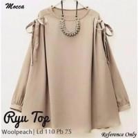 EL Baju Ryu Blouse  Blouse Polos Cewek Baju Atasan - Ryu Top Blouse - Tunik f1f7453edd