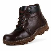 Sepatu Boots Safety Pria Ujung Besi Kulit Asli Crocodile - Sepatu Boots  Hiking Pria Touring Motor - Sepatu Kerja Proyek Pria 88d57440de