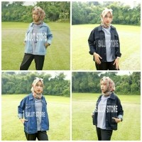Jaket Jeans Denim Wanita Bioblizt Biowash Hitam Garment Premium OVERSIZE  (474830117) 5cca767d9d