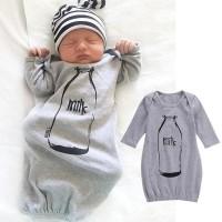 Bayi Bayi Baru Lahir Anak Laki-laki Pakaian Jumpsuit Bodysuit Kantung Tidur  Baju Tidur Bayi 3bea897b9a
