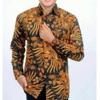Kemeja Batik Pria Baju Batik Pria Lengan Panjang Motif Manggar (481560796) 96ff01ee09