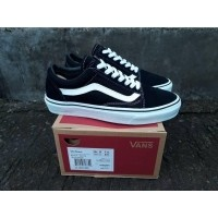 AD ราคา Terlaris Sepatu VANS OLD SKOOL BLACK WHITE VANS OLD SCHOOL 8 HOLE  ORIGINAL KODE WAFFLE 9985fceaf