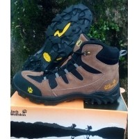 Sepatu Gunung Jack wolfskin waterproof bahan kulit asli (441675020) 5a18b22d4d