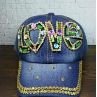 Princess Wardrobe - Topi Bling Anak  LOVE   Topi blink blink   Shiny Hats   Topi  Fashion   Topi Korea   Topi anak 40e2634f9e