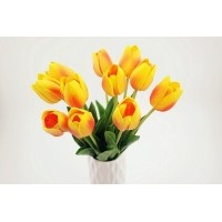 SangAdam Bunga Tulip Latex PREMIUM hiasan runag tamu dan kantor-bnga palsu-bunga  hias 0279e78a3d
