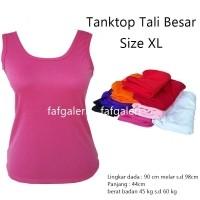 Tanktop Tali Besar Singlet Size XL Dewasa - Baju Kaos Atasan Wanita Tank  Top Kaos Dalam 2154e25e24