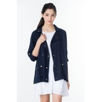 a6ac0419846c Carmen Military Jacket in Navy Blue by NINTH COLLECTIVE - Navy (438276297)