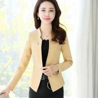 2018 Musim Semi Wanita Wanita Formal Blazers Jaket Kantor Wanita OL Memakai  Jas Jaket Lengan Panjang Kerja Blazers-Internasional 29914c23ec