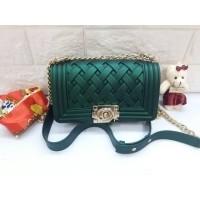 Tas Jelly Matte Boy ANYAM MINI (20cm) - Tas Import Sling Bag Jelly Boy 7591593f98