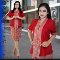 Stelan Baju Batik Wanita Kebaya Modern Kutu Baru Rok Elnira Pendek Model Baru 680380738