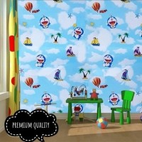 Daftar Harga C053 Wallpaper Sticker Doraemon Wallpaper Dinding