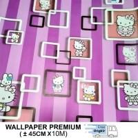 Daftar Harga Wallpaper Stiker Dinding Karakter Hello Kitty Bulan November 2020