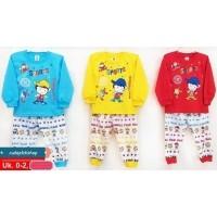 Baju Setelan Anak Bayi Piyama Tangan Panjang Baju Tidur Motif Lucu  (21478228) f4257dd602