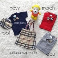 Promo Gratis Ongkiry51m71 Baju Setelan Suspender Anak Bayi Laki Laki  Burberry Set Terlaris E9z8 (22670272 78c24cc2a0