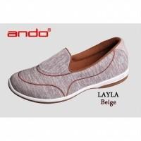 ANDO  FREE ONGKIR SE-INDONESIA  Sepatu Wanita Slip On LAYLA (23104030) f22701e2e7