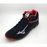 Sepatu Voli Mizuno Thunder Blade Mid Black Red V1GA187586 Original  (25440617) c3009ddd67