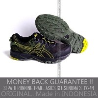 ORIGINAL Asics Gel Sonoma 3 Men Trail Running Shoes Black Sepatu Running  Asics Gel Sonoma 3 1d8da93b0c