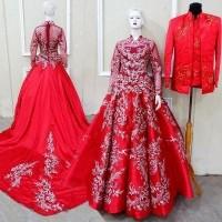 Sepasang Gaun Kebaya Pengantin Modern Gaun Pengantin Barbie Terbaru 25741127
