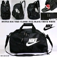 TAS RANSEL DUFFLE BAG TRAVEL NIKE CLASSIC BLACK WHITE GYM OLAHRAGA TRAVELBAG  DUFFLEBAG FITNESS BASKET BACKPACK bb7630fc9c