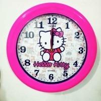 Cepat habis Jam Dinding Hello Kitty HK 102 Diameter 30 cm Wall Clock Fk3112  (25954040 8f7f005929