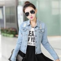 Daftar harga Jaket Denim Jeans Wanita Korea Terbaru Blaire Bulan ... 3169834aea