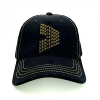 Kalibre 991146-999 Topi Studs Duri Sporty Baseball Hat Studded Cap Hitam  Kuning (19611404 05f2bcc01f