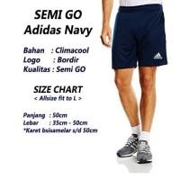 Daftar harga Semi Go Celana Bola Adidas Polos Hitam Bulan Januari 2019 7c25767b8c