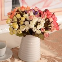 Barang Terlaris Buket 15 Bunga Mawar Buatan dengan Bahan Kain untuk Hiasan  Dekorasi Rumah   Pesta 5c54660dc1