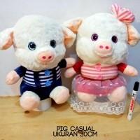 boneka pig casual stripe impor lembut banget boneka babi pig couple  (23764931) 5e252eb6e8
