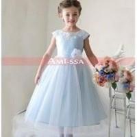 Daftar Harga Dress Seleting Biru Muda Vo Pesta Anak Remaja Bulan