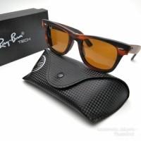 kacamata RAYBAN 2140 WAYFARER coklat Doff sunglasses pria wanita (24882409) e8e3c0512a
