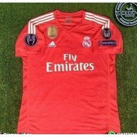 16cf6b5138a NEW Jersey Real Madrid GK Kiper Orange Full patch UCL 2017 2018 grade ori  Murah