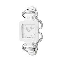 3a6b439757e Gucci 1921 Series White Leather Bangle Ladies Watch YA130404