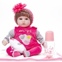 Boneka Bayi Perempuan Realistis Tampak Hidup Bahan Silikon Ukuran 17 Inci 4efbd5dd3f