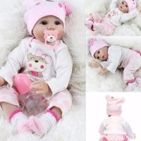 Daftar harga Boneka Bayi Reborn Tampak Hidup Bahan Silikon Bulan ... d8e20a31d9