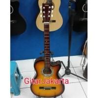 Gitar Akustik Sunburst Buat Pemula Murah Jakarta