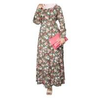 Mall BTM Fashion - Rimesa Gamis Vintage Motif Bunga Pink Soft - Biru Tua 6090bf8b2d