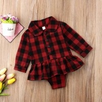 baju bayi romper kotak kotak merah for baby girl import murah NB-2 tahun 263e35ea4b