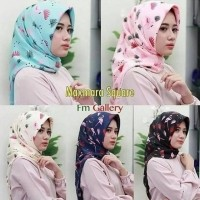 Daftar Harga Hijab Jilbab Segiempat Maxmara Motif Flamingo Bulan