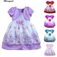 Kid Baby Girl Rose Floral Bordir Putri Bunga Girl Dress 30f62e89ee