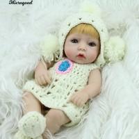 Mainan Boneka Bayi Perempuan Reborn Tampak Hidup Bahan Silikon Lembut 139395ea1e