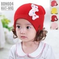 Topi bayi lucu rajut jerapah dengan aksen wig 2e8d4d0226