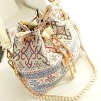 Tas Bahu   Selempang Bucket Motif Print Etnik Bahan Kanvas untuk Wanita 7207013af9