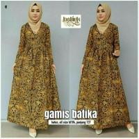 Gamis Batik Wanita Batik Gamis Busui Muslim Modern Baju Muslim Murah 8bb1d80896