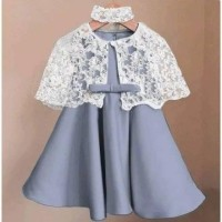 Dress Cape Kelly Kids Gaun Brokat Anak