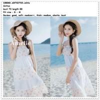 807ff353e Long Dress Pantai Kemben Putih Dress Midi Dress Mini Dress Boho Bohemian  Korea Import Pakaian Wanita