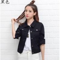 Wanita Wanita Koboi Jaket Jeans Denim Jaket Pendek Korea Slim (507176717) d47734a1ba